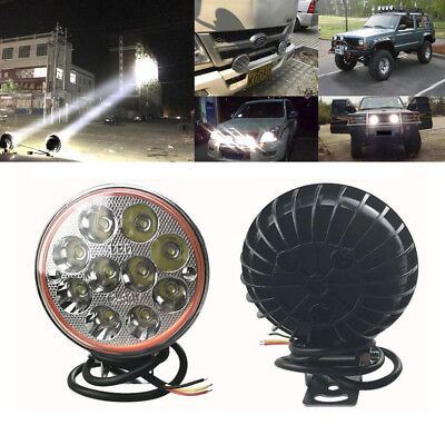 2PCS 30W 10 LED Motorcycle Car Fog Light Truck Spot Work Lamp Offroad SUV ATV