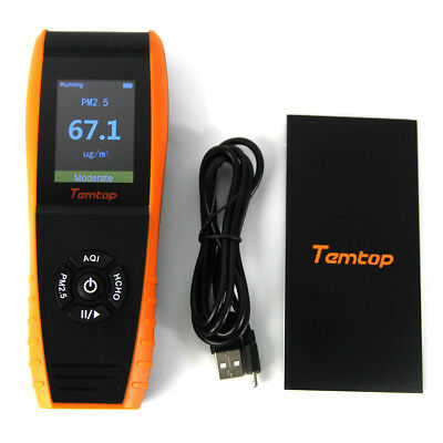 TemTop LKC-1000E Air Quality Monitor Real Time Display PM2.5/PM10 Air Detector
