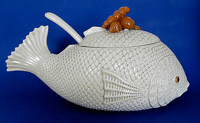 Superb Vintage Fitz & Floyd 1975 Chowder Tureen, Complete with Ladle