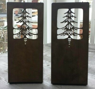 Pair of Handwrought Antique Copper Arts and Crafts Bookends