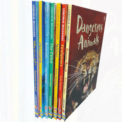 Usborne Beginners 7 Books Collection Set Antarctica,Why do we eat,Firefighters