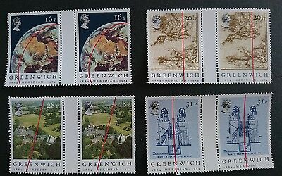 Gb Um Commemorative Stamp Gutter Pairs - Greenwich Meridian -  26.6.84