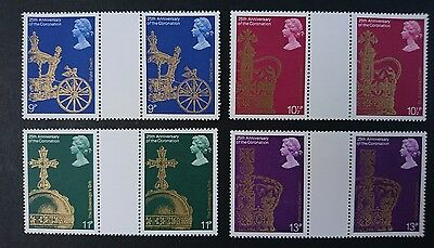 Gb Um Commemorative Stamp Gutter Pairs - Coronation Anniversary - 31.5.78