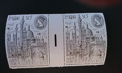 Gb Um Commemorative Stamp Gutter Pair - London 80 Exhibition - 9.4.80