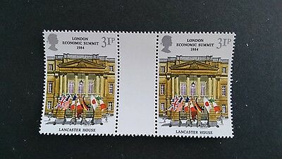 Gb Um Commemorative Stamp Gutter Pair - London Economic Summit - 5.6.84