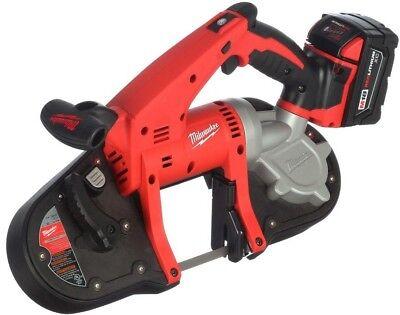 Power Tool Portable Band Saw Kit Cordless Keyless Lithium Ion Red 16 Inches