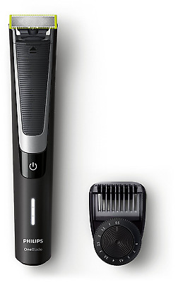 Philips OneBlade Pro Hybrid Trimmer & Shaver with 12-Length Comb (UK 2-Pin Bathr