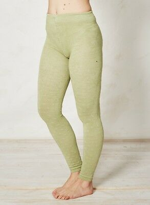 8ff57b75556 Braintree Leaf Green Fleur Patterned Footless Tights Bamboo Cotton Spandex  Soft