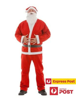 Santa Claus Costume Dress Santa Suit Christmas Party Outfit for Adult / Male