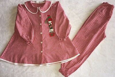 BAILEY BOYS Girls Christmas Outfit Size 6 2 Piece Elastic Waist Button Up Shirt