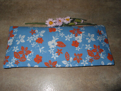 Handmade Blue Floral Print Fabric Lavender Filled Yoga Relaxation Eye Pillow