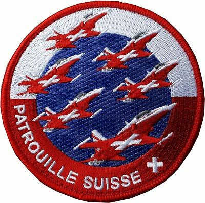 Aufnäher Swiss Air force  Patrouille Suisse aktueller  2017 er patch  ca 9 cm