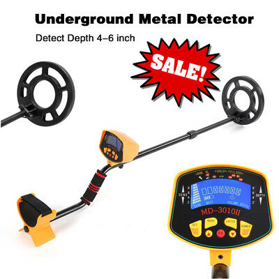 Waterproof Metal Detector LCD Display Gold Silver Treasure Hunter Coins Finder