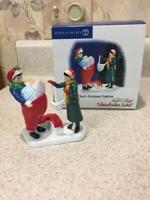 Department 56 Snow Village Christmas Lane Dads Christmas Tradition Accessory