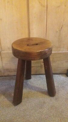 Old French vintage milking stool