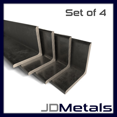 4x Mild Steel Angle Iron 20mm to 50mm | 500mm to 3000mm | SET OF 4