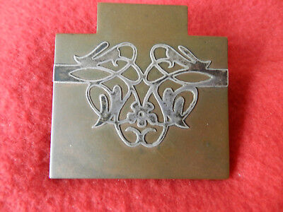 Heintz Art Metal Desktop Paper Clip Arts Crafts Design Sterling Over Bronze