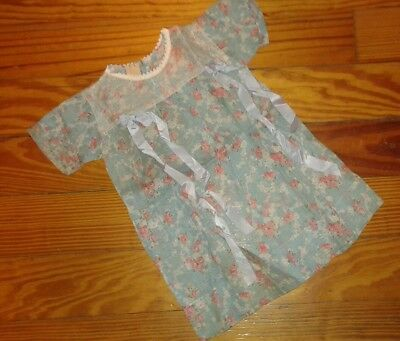 NWT Antique Vintage Baby Dress Collector Blue Floral