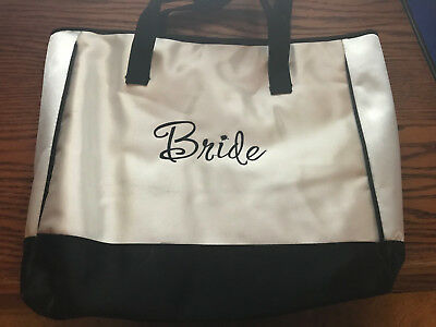 Bride Black and White Tote Bag Bridal Shower Gifts Wedding Bride Gifts