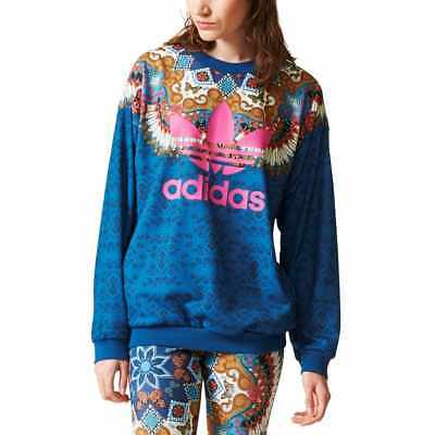 BR5136, adidas Sweater – Borbomix blue/multicolor, Women, 2017, Polyester