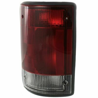 For E-150 04-14, Driver Side Tail Light, Clear and Red Lens