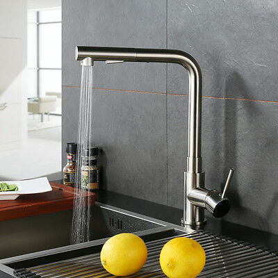 Modern Kitchen Pull Out Cock Single Handle Pull Down Sink Faucet Mixer Tap
