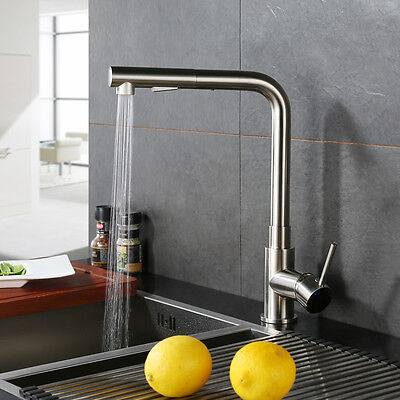 Modern Kitchen Pull Out Faucet Single Handle Pull Down Sink Faucet Mixer Tap