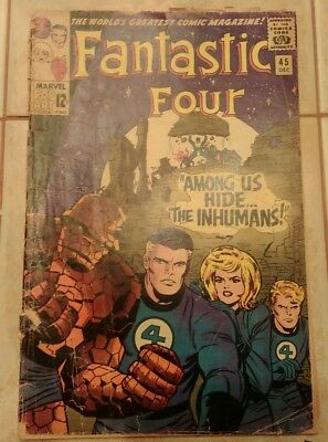 Fantastic Four #45 1965 1st app. of the Inhumans! Key Silver! New TV Show!