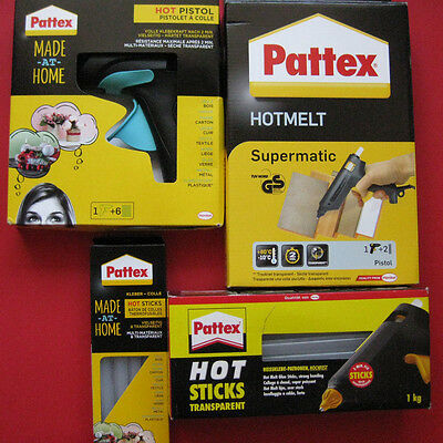 Pattex Heißkleber Heißklebepistole Hot Sticks SUPERMATIC Made at home Pistole