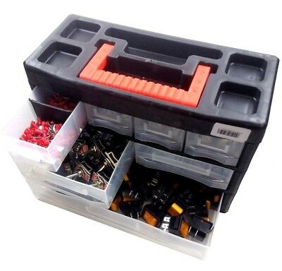 10908 Portable Organiser Tool Box Storage for Screw Nail Nuts Bolts 3/11 Tray