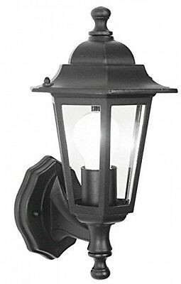 Traditional 6 Sided Outdoor Wall Lantern Black