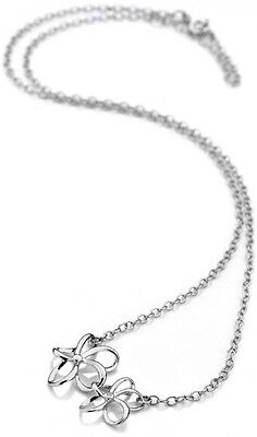 Accents by Hot Diamonds Silver Open Flower Necklace