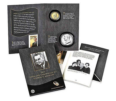 ^_^ 2015 Lyndon Johnson Coin & Chronicles Set - 2 sets in Sealed Unopened Box