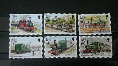 Isle of Man 1988 mint postage stamps trains