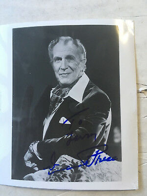 Vincent Price signed inscribed 4x5 photograph