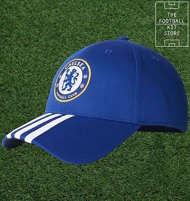 Chelsea Cap - adidas 3 Stripe CFC Football Cap - Mens & Boys Sizes