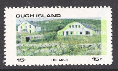 GB Locals Gugh Island 1972 15p Definitive Green Colour Shift  to the right side