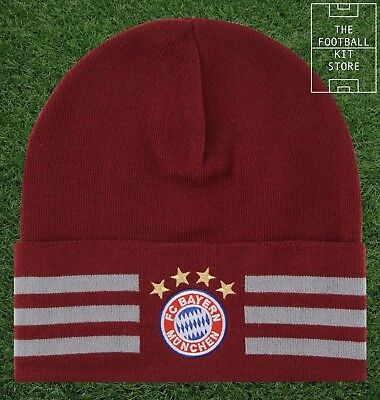 Bayern Munich Hat - adidas FC Bayern Munchen Woolie / Beanie - Mens & Boys Sizes