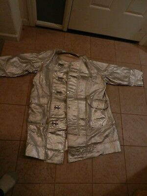 Vintage American Fireman's Coat and Pants Safety Heat Protective Suit