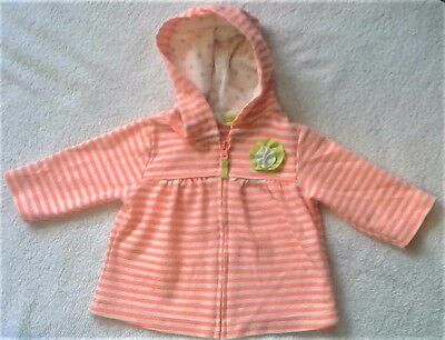 Adorable Carters Thin Zip-up Hoody, Size 3 months (Perfect Condition)