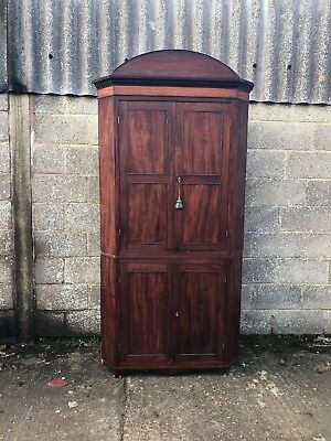Beautiful, Antique, French 2 Door Armoire Corner Cupboard