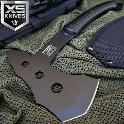 """11"""" SURVIVAL TACTICAL TOMAHAWK THROWING AXE BATTLE Hatchet hunting knife Blade"""