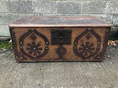 Beautiful, French 19th Century, Antique, Vintage Marriage Trunk, Original Paint!