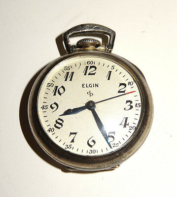 ELGIN Watch Jugendstil 925 Silber Taschenuhr Star Case Sterling Silver Ø ca.28mm