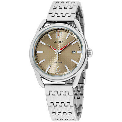 Citizen Drive Brown Dial Stainless Steel Ladies Watch FE6080-54X