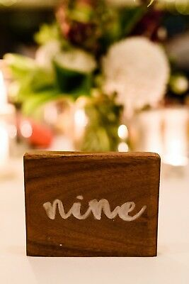 Wooden / Timber Wedding Table Numbers - Raw clear Varnished finished