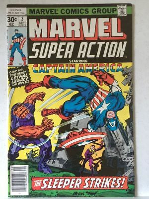 Marvel Super Action # 3 VF+ Captain America High Grade Free Postage