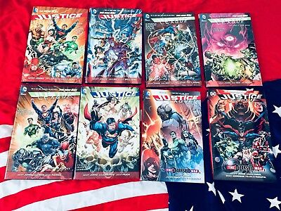 Justice League New 52 Hardcovers 1-8 HC Complete
