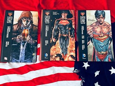 Superman Earth One 1-3 HC Straczynski, Hardcovers 1 2 3