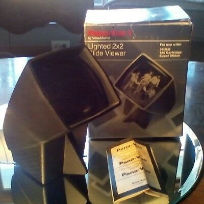 PANA-VUE 1  2X2 SLIDE VIEWER BY VIEW-MASTER w/BOX & INSTRUCTIONS parts or repair